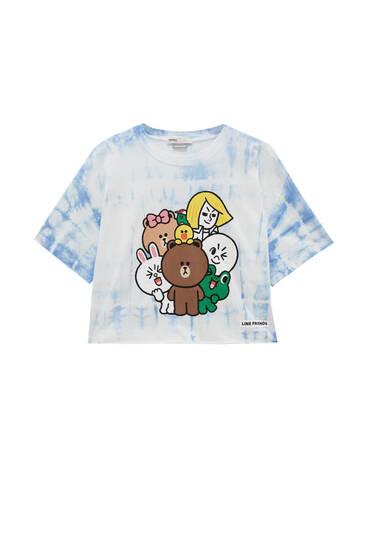 Tie-dye Line Friends T-shirt