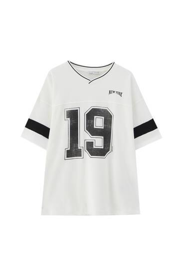 Oversize varsity T-shirt