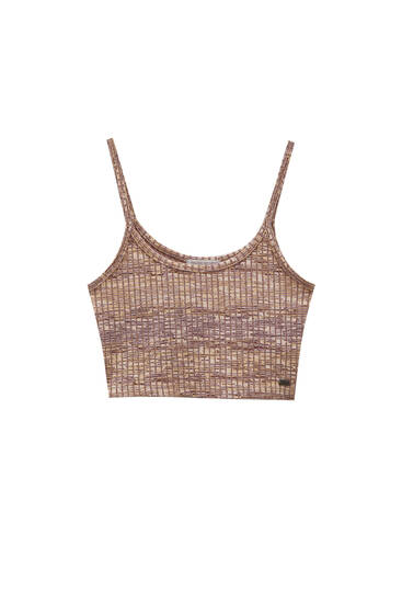 Marbled strappy crop top
