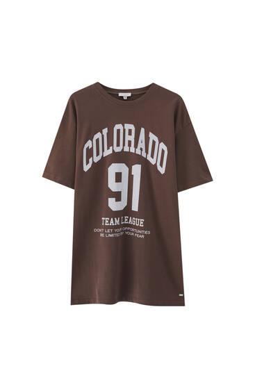 Brown Colorado T-shirt - 100% ecologically grown cotton