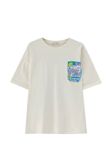 Camiseta gráfico palmeras