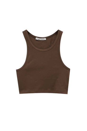 Crop top with seam detail