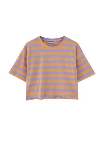 Camiseta cropped rayas tallo vivo