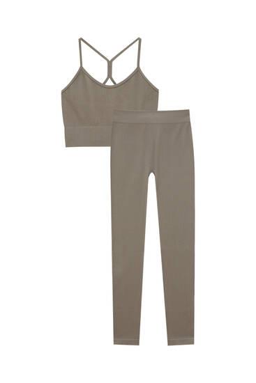 Crop top and leggings pack
