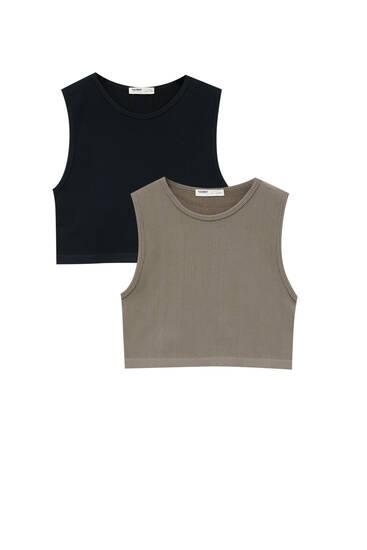 Pack of basic vest tops