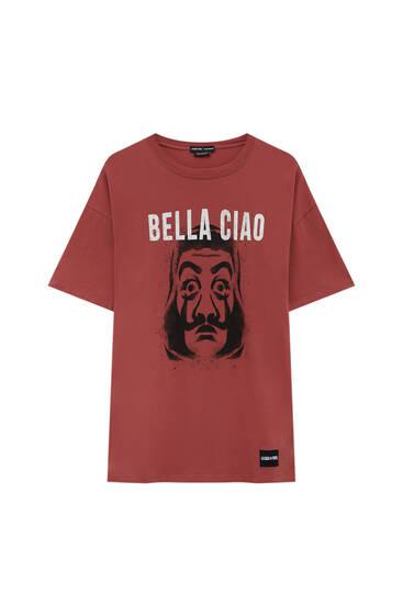 Money Heist x Pull&Bear mask T-shirt