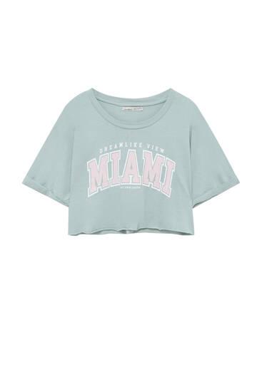 Camiseta texto college