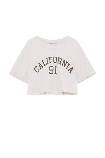 Varsity slogan T-shirt