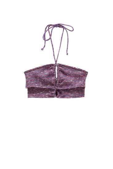 Cut-out crop top with straps
