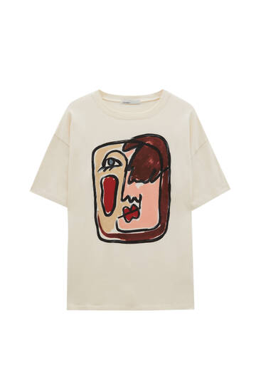 Camiseta ilustración cara