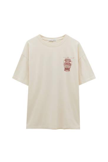Camiseta ilustración jarrón
