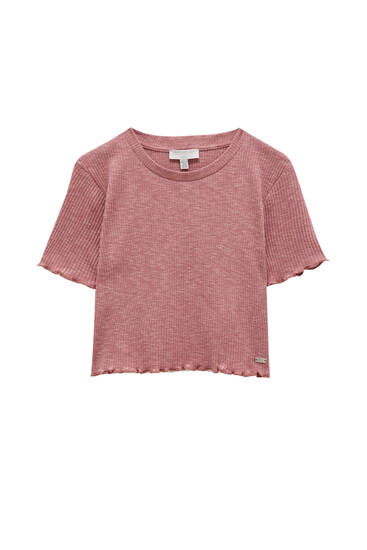 T-shirt with trimming