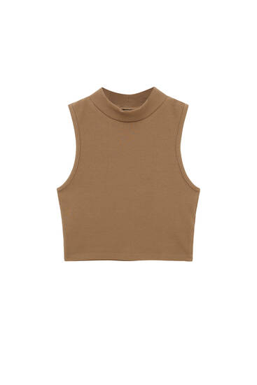 High neck sleeveless top