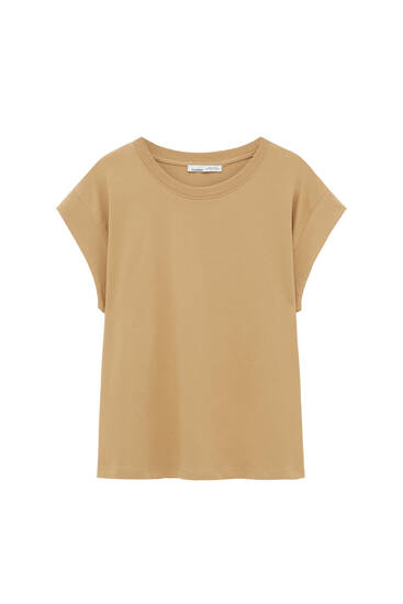 Basic cap sleeve T-shirt - contains recycled cotton
