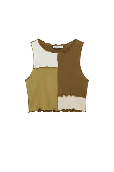 Patchwork top with seam detail