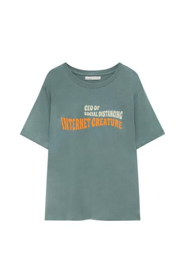 Retro slogan T-shirt