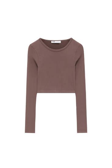 Long sleeve basic T-shirt