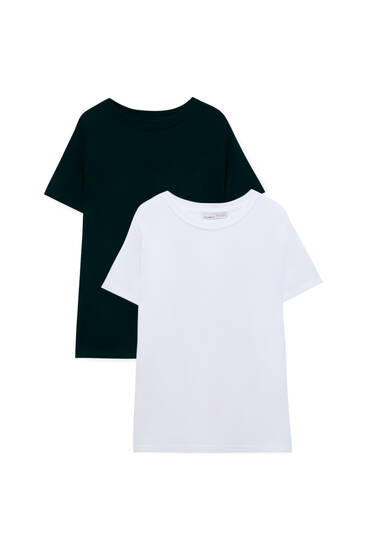 Pack of 2 basic cotton T-shirts