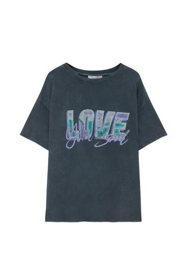 Contrast Love T-shirt
