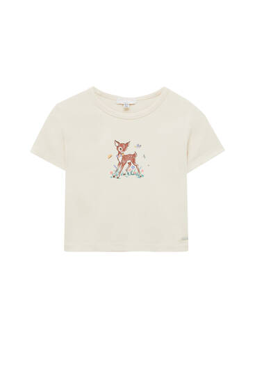 Fitted fawn T-shirt