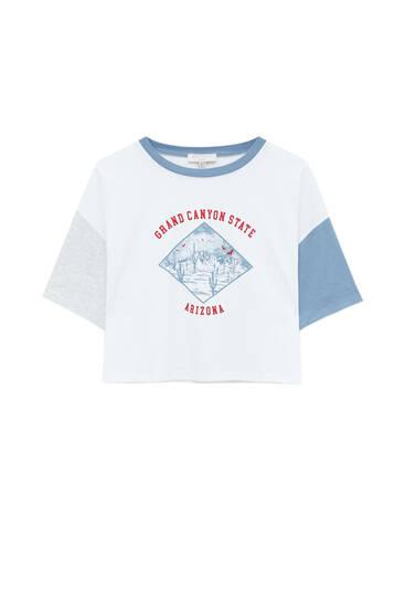 Graphic colour block T-shirt