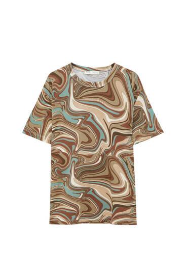 Wavy retro T-shirt