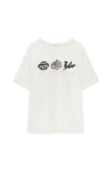 T-shirt with contrast graphics