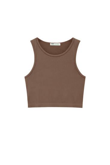 Comfort fit mouwloze top