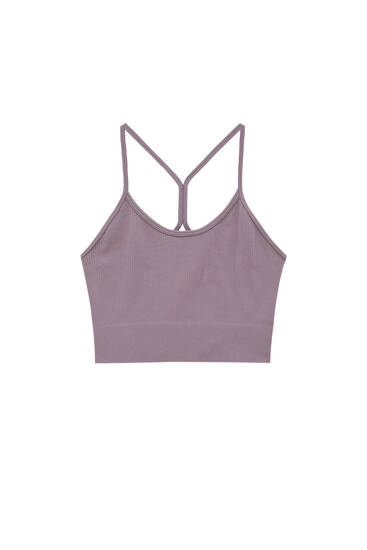 Strappy top with a crossover back