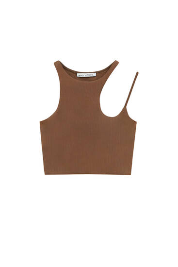 Cut-out halter neck top