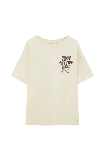 T-shirt with back graphic