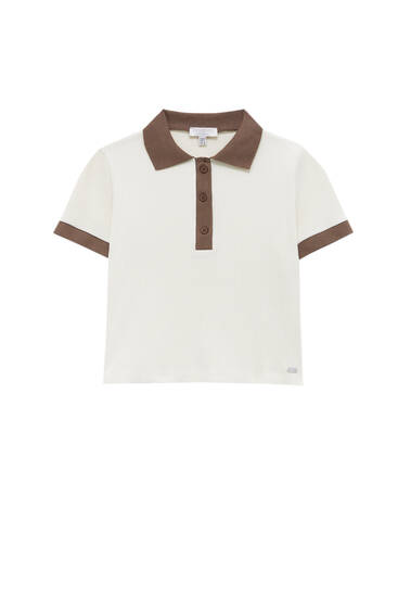 Polo shirt with contrast trims
