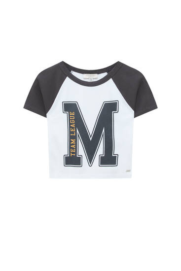 Cropped T-shirt with front detail