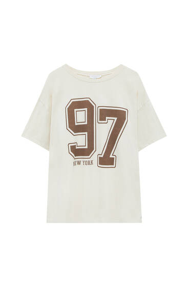 Short sleeve T-shirt with number