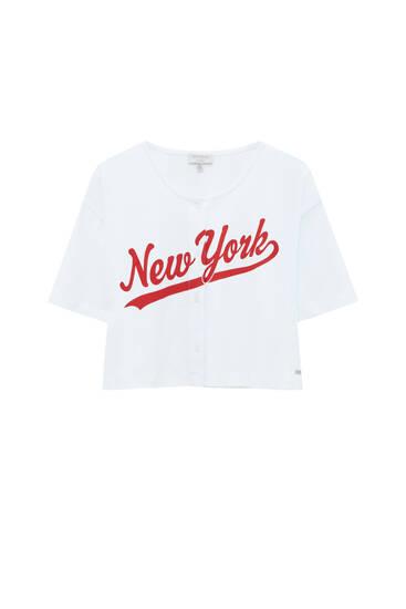 New York cropped baseball T-shirt