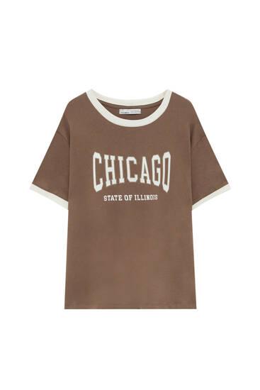 Varsity T-shirt with contrast rib