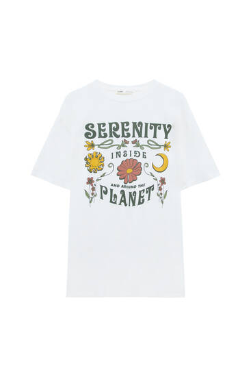 T-shirt with Serenity illustration