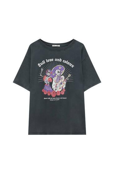 La Catrina slogan T-shirt