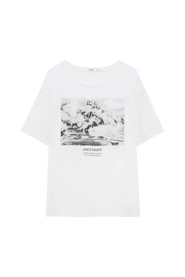 Photo graphic T-shirt