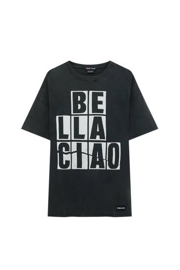 "Black Money Heist x Pull&Bear ""Bella Ciao"" T-shirt"