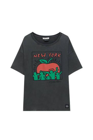 Faded black Keith Haring T-shirt