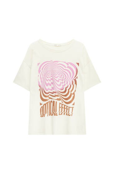 T-shirt with contrast retro graphic