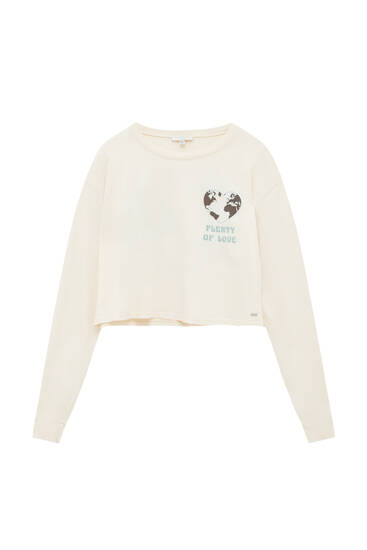 Long sleeve T-shirt with heart detail