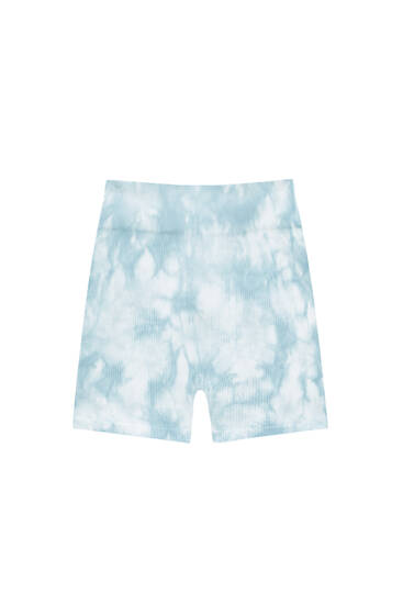 Tie-dye print cycling shorts