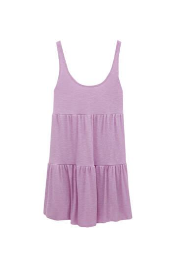 Short strappy panel dress