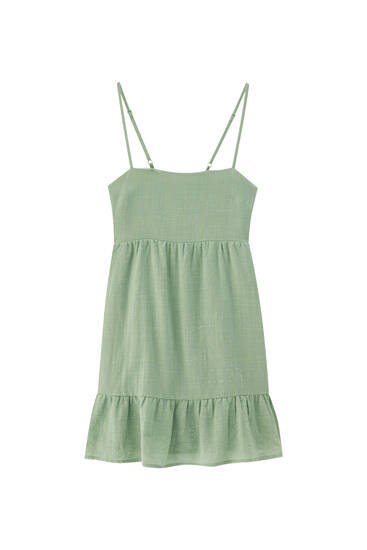 Strappy short dress with back detail