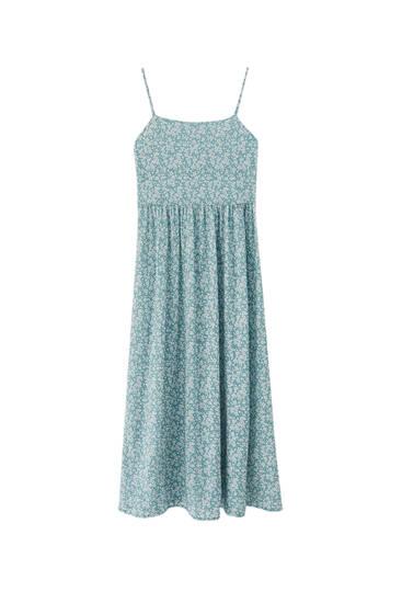 Strappy floral midi dress