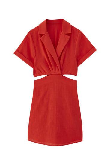 Kratka košulja-haljina s prorezima