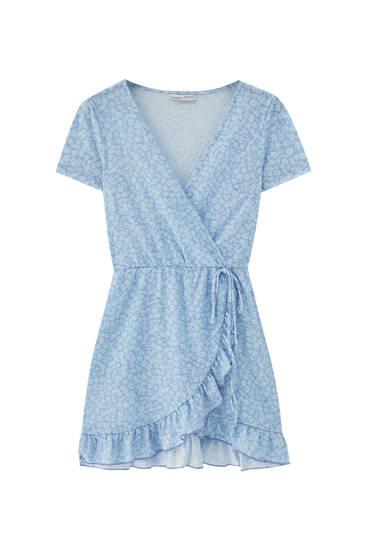 Short printed ballerina dress