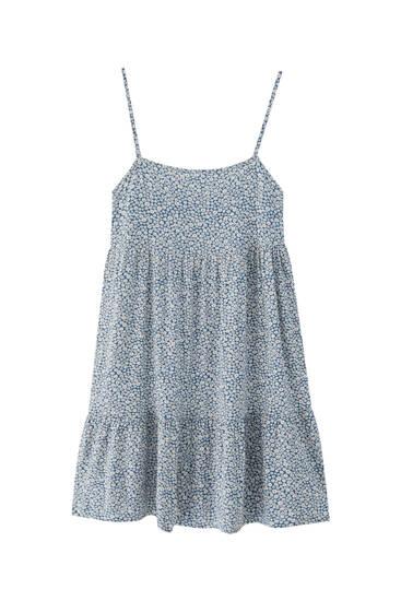 Lepršava mini haljina s naramenicama